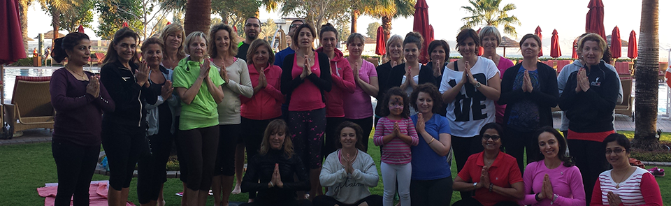 Yogis at Bosom Buddies Awareness Event at the Khalidiya Palace Rayhaan Hotel